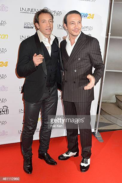 Philippe Candeloro and Laurent Artufel attend The 'Lauriers TV Awards 2015 Ceremony' on January 06 2015 in Paris France
