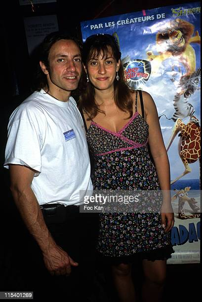Philippe Candeloro and Wife during 'Madagascar' Paris Screening June 21 2005 at Planet Hollywood in Paris France