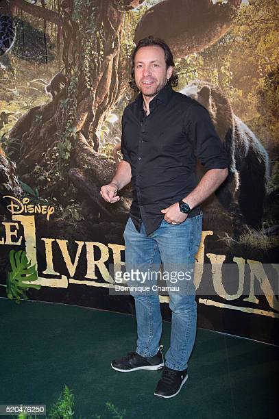 Philippe Candeloro attends the The Jungle Book Paris Premiere at Cinema Pathe Beaugrenelle on April 11 2016 in Paris France