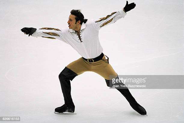 Philippe Candeloro from France performs at the 1998 Winter Olympics