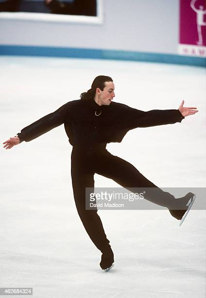 Philippe Candeloro of France of China competes in the Free Skate portion of the Men's Figure Skating singles competition of the 1994 Winter Olympic...