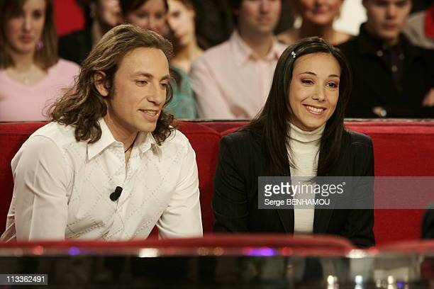 Philippe Candeloro On Vivement Dimanche Tv Show On February 7Th 2005 In Paris France Philippe Candeloro And Sarah Abitbol
