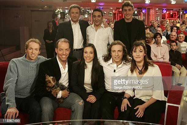 Philippe Candeloro On Vivement Dimanche Tv Show On February 7Th 2005 In Paris France Michel Drucker Dany Lary Brian Joubert Stanick Janette Stephane...