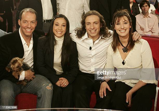 Philippe Candeloro On Vivement Dimanche Tv Show On February 7Th 2005 In Paris France Stephane Bernadis And Sarah Abitbol Philippe And Olivia Candeloro
