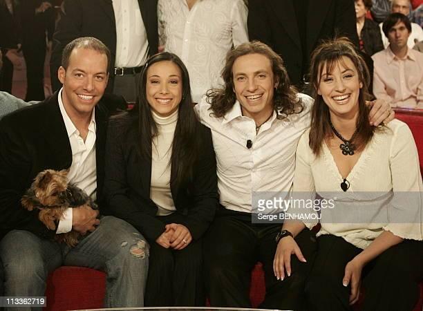 Philippe Candeloro On Vivement Dimanche Tv Show On February 7Th 2005 In Paris France Stephane Bernadis Sarah Abitbol Philippe And Olivia Candeloro