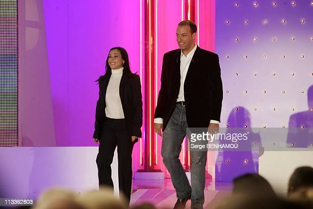 Philippe Candeloro On Vivement Dimanche Tv Show On February 7Th 2005 In Paris France Sarah Abitbol And Stephane Bernadis