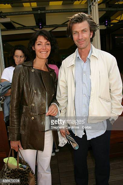 Philippe Caroit and Caroline Tresca visit Roland Garros Village during the 2005 French Open tennis.