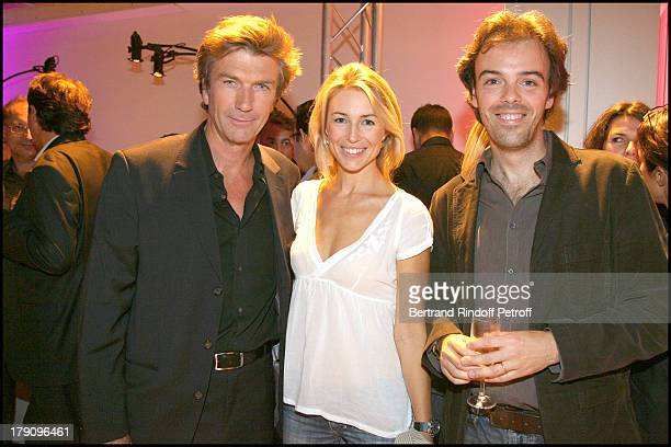 Philippe Caroit Anne Charlotte Pontabry and guest at Press Conference For 'On Se Retrouve Sur TF1'