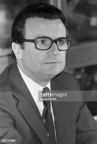 Philippe Chatrier président de la Fédération Internationale de Tennis à Paris le 21 janvier 1980 France