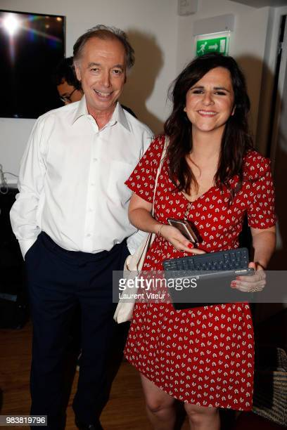 Philippe Chevalier and Laura Domenge attend 'La Bataille du Rire' TV Show at Theatre de la Tour Eiffel on June 25 2018 in Paris France