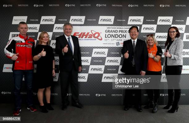 Philippe Chiappe Professional powerboat driver Joanna Jones Commerical Director at London Tech Week Nicolo di San Germano President of H2O Racing...