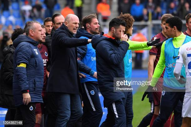 Philippe Clement head coach of Club Brugge during the Jupiler Pro League match between KRC Genk and Club Brugge KV on March 01 2020 in Genk Belgium...