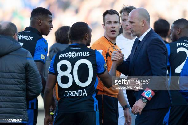 Philippe Clement head coach of Genk during the Jupiler Pro League playoff 1 match between Club Brugge and Krc Genk at Jan Breydel Stadium on May 12...