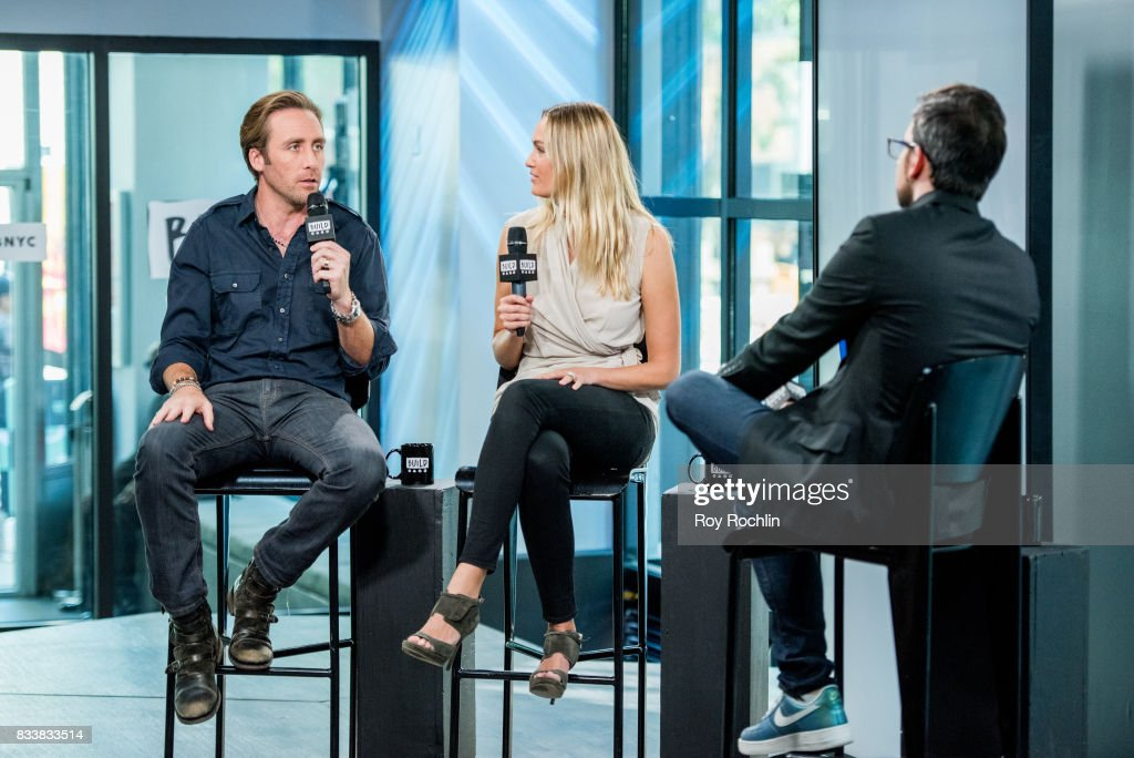 Philippe Cousteau and Ashlan Cousteau discuss 'Caribbean Pirate Treasure' with the Build Series at Build Studio on August 17, 2017 in New York City.