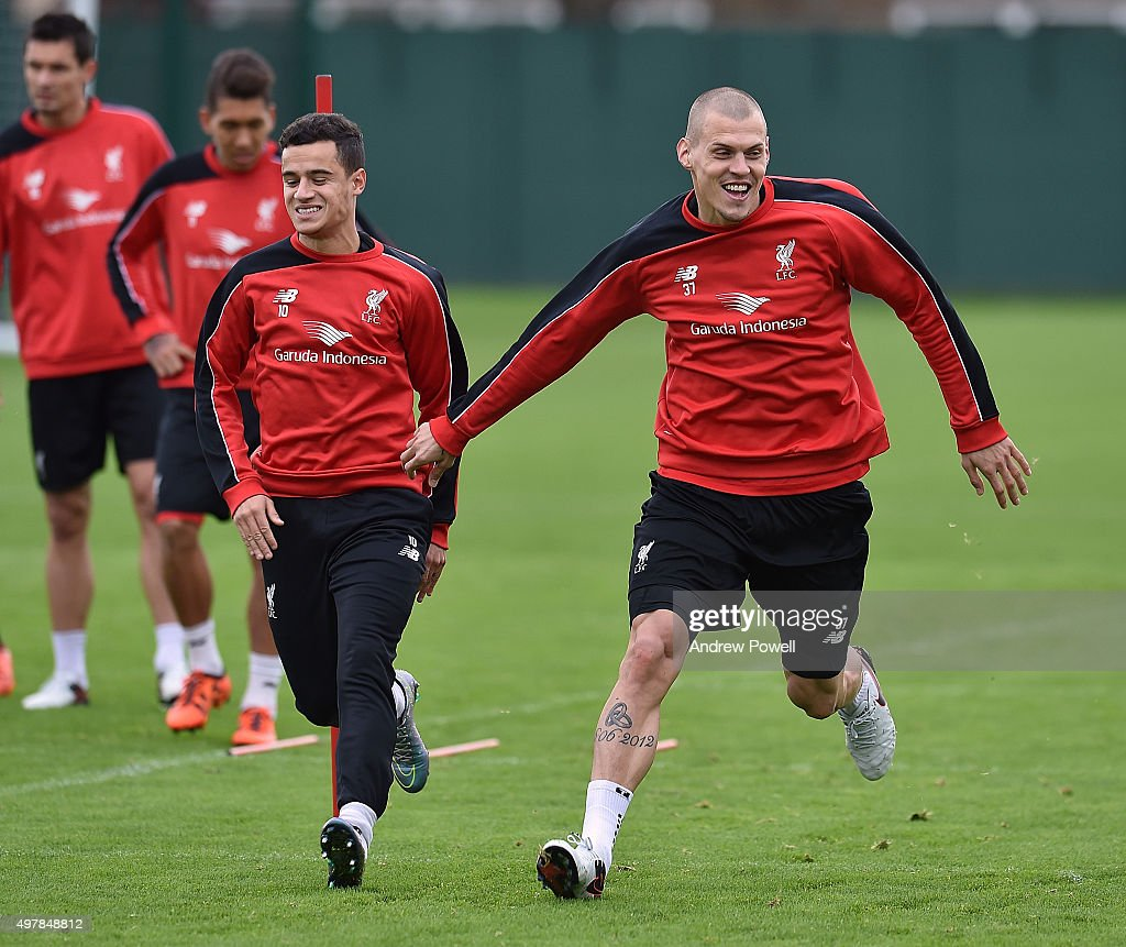 Liverpool FC Training & Press Conference : News Photo