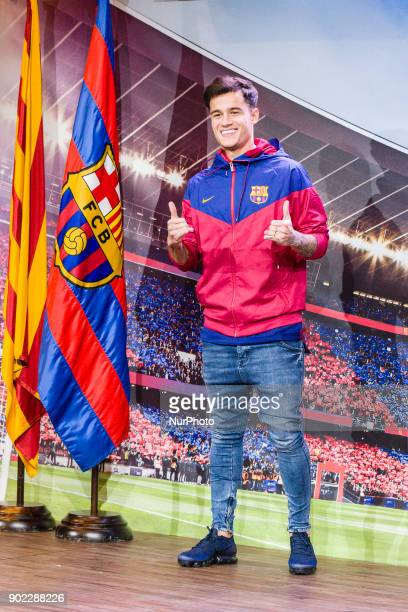 Philippe Coutinho during his presentation like new player of FC Barcelona on 7th January 2018 in Barcelona Spain Spain
