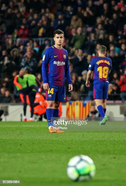 Philippe Coutinho during the match between FC Barcelona and Girona FC for the round 25 of the Liga Santander played at the Camp Nou Stadium on 25th...