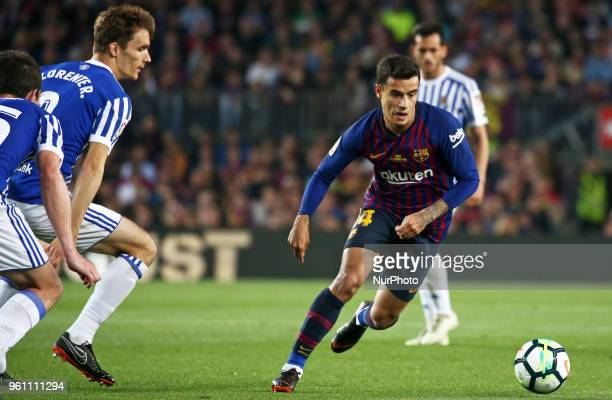 Philippe Coutinho during the match between FC Barcelona and Real Sociedad played at the Camp Nou Stadium on 20th May 2018 in Barcelona Spain