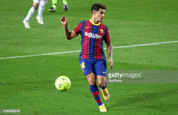 Philippe Coutinho during the match between FC Barcelona and SD Eibar, corresponding to the week 16 of the Liga Santander, played at the Camp Nou...