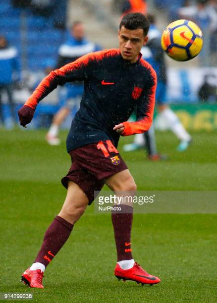 Philippe Coutinho during the match between RCD Espanyol vs FC Barcelona for the round 22 of the Liga Santander played at Cornella El Prat Stadium on...