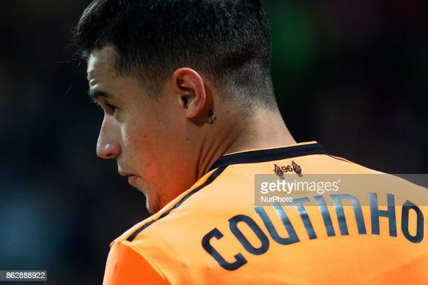 Philippe Coutinho during the UEFA Champions League match between NK Maribor and Liverpool FC at Station Ljudski Vrt on October 17 2017 in Maribor...