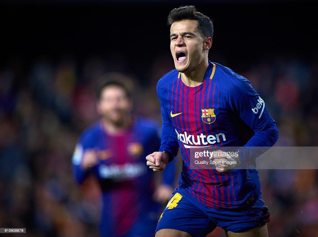 Valencia v Barcelona - Copa del Rey Semi Final Second Leg : ニュース写真