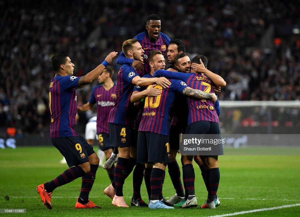 Tottenham Hotspur v FC Barcelona - UEFA Champions League Group B : Nachrichtenfoto