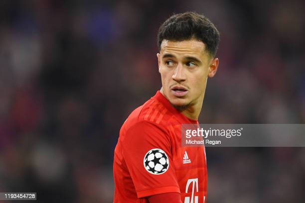 Philippe Coutinho of Bayern Munich in action during the UEFA Champions League group B match between Bayern Muenchen and Tottenham Hotspur at Allianz...