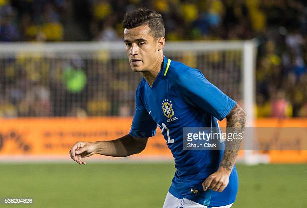 Philippe Coutinho of Brazil during the Copa America Centenario Group B match between Brazil and Ecuador at the Rose Bowl on June 4 2016 in Pasadena...