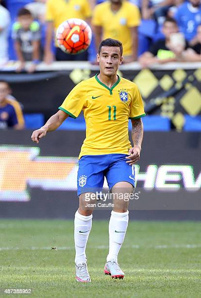 Philippe Coutinho of Brazil in action during the international friendly match between Brazil and Costa Rica at Red Bull Arena on September 5 2015 in...