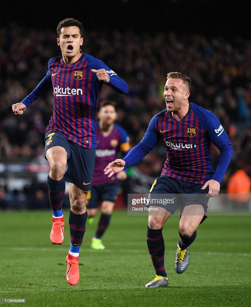 FC Barcelona v Sevilla - Copa del Rey Quarter Final : News Photo