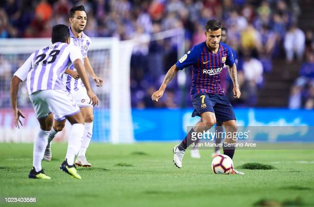 Philippe Coutinho of FC Barcelona during the La Liga match between Real Valladolid CF and FC Barcelona at Jose Zorrilla on August 25 2018 in...