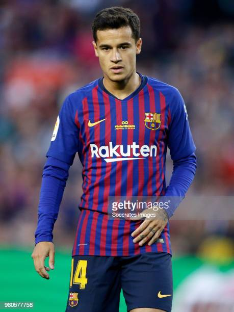 Philippe Coutinho of FC Barcelona during the La Liga Santander match between FC Barcelona v Real Sociedad at the Camp Nou on May 20 2018 in Barcelona...