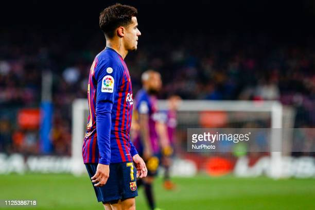 Philippe Coutinho of FC Barcelona during the match FC Barcelona against Real Valladolid for the round 24 of the Liga Santander played at Camp Nou on...