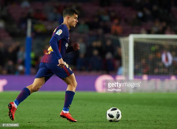 Philippe Coutinho of FC Barcelona during the spanish Copa del Rey semifinal first leg match between FC Barcelona and Valencia at Camp Nou Stadium on...