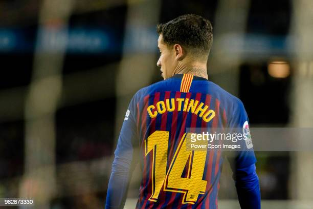 Philippe Coutinho of FC Barcelona in action during the La Liga match between Barcelona and Real Sociedad at Camp Nou on May 20 2018 in Barcelona