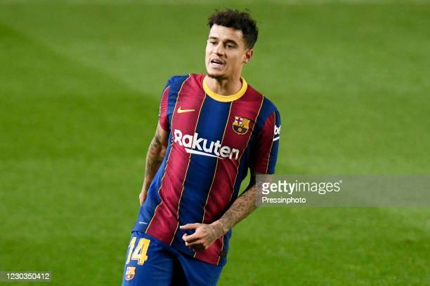 Philippe Coutinho of FC Barcelonaduring the La Liga match between FC Barcelona and SD Eibar played at Camp Nou Stadium on December 29, 2020 in...