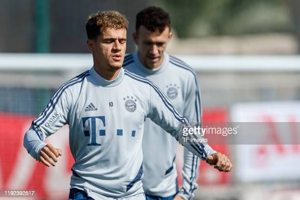 Philippe Coutinho of FC Bayern Muenchen looks on during day three of the FC Bayern Muenchen winter training camp on January 6, 2020 in Doha, Qatar.