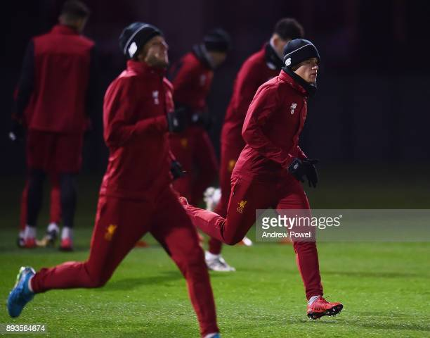 Philippe Coutinho of Liverpool during a training session at Melwood Training Ground on December 15 2017 in Liverpool England