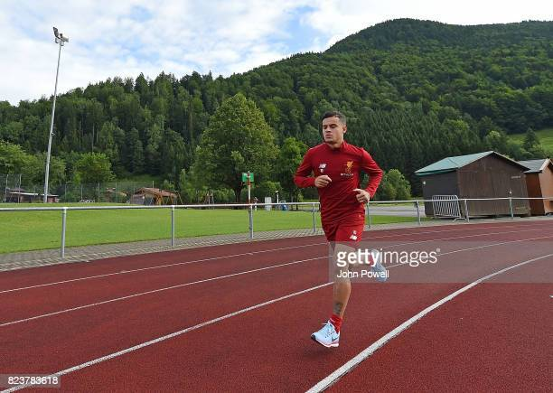 Philippe Coutinho of Liverpool during a training session at RottachEgern on July 28 2017 in Munich Germany