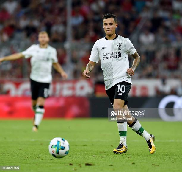 Philippe Coutinho of Liverpool during the Audi Cup 2017 match between Bayern Muenchen and Liverpool FC at Allianz Arena on August 1 2017 in Munich...