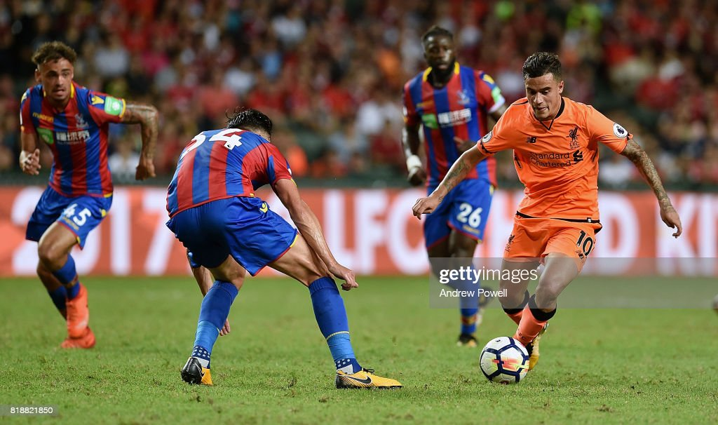 Philippe Coutinho of Liverpool during the Premier League Asia Trophy match between Liverpool FC and Crystal Palace on July 19, 2017 in Hong Kong Stadium, Hong Kong.