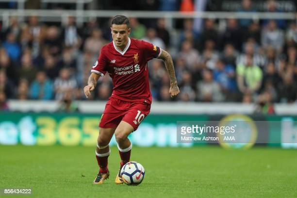 Philippe Coutinho of Liverpool during the Premier League match between Newcastle United and Liverpool at St James Park on October 1 2017 in Newcastle...