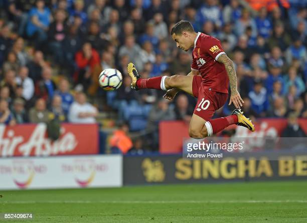 Philippe Coutinho of Liverpool during the Premier League match between Leicester City and Liverpool at The King Power Stadium on September 23 2017 in...