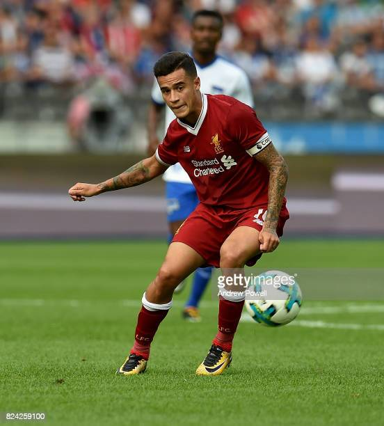 PHilippe Coutinho of Liverpool during the preseason friendly match between Hertha BSC and FC Liverpool at Olympiastadion on July 29 2017 in Berlin...