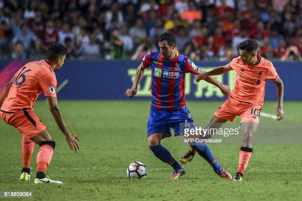 Philippe Coutinho of Liverpool FC competes for the ball against Luka Milivojevic of Crystal Palace during a 2017 Premier League Asia Trophy fixture...
