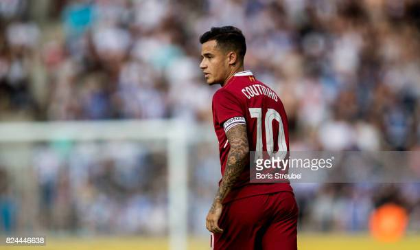 Philippe Coutinho of Liverpool FC looks on during the Preseason Friendly match between Hertha BSC and FC Liverpool at Olympiastadion on July 29 2017...