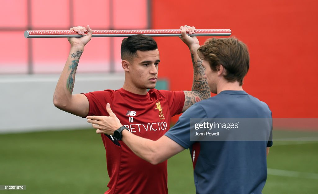 Philippe Coutinho And Adam Lallana Return For Duty At Liverpool : News Photo