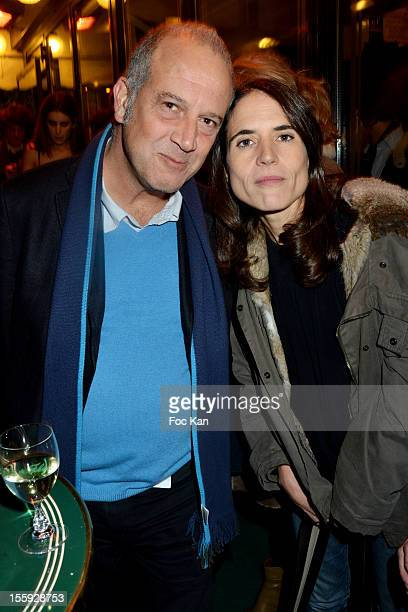Philippe Dana and Mazarine Pingeot Mitterrand attend the 'Prix De Flore 2012' Literary Award Ceremony Party at the Cafe de Flore on November 8 2012...