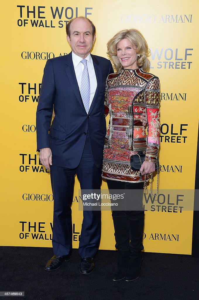 Philippe Dauman and Deborah Dauman attend the 'The Wolf Of Wall Street' premiere at the Ziegfeld Theatre on December 17, 2013 in New York City.